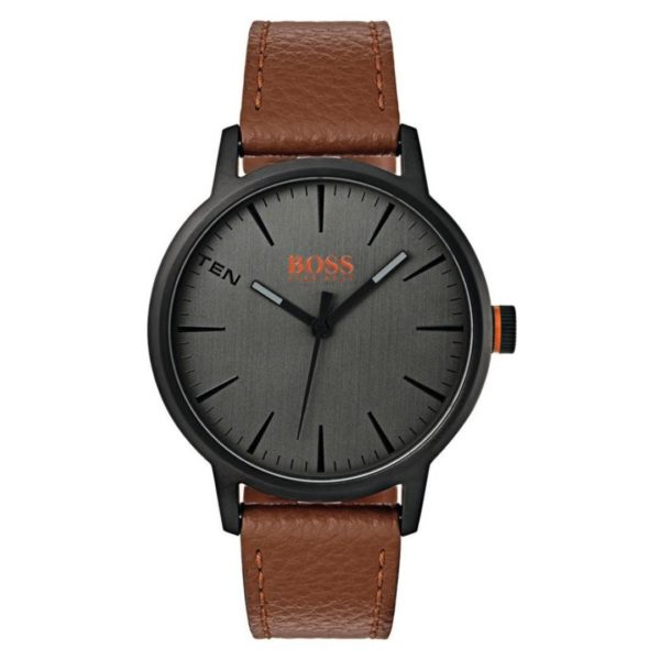Hugo Boss Copenhagen Watch For Men with Light Brown Leather Strap