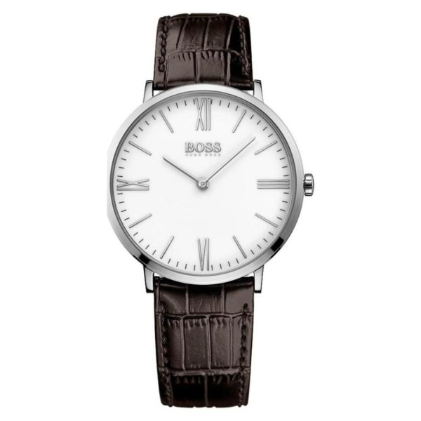 Hugo Boss Jackson Watch For Men with Brown Leather Strap