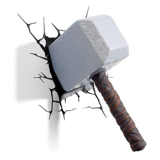 3DLightFX Thor Hammer 3D Decor Wall Light 64017