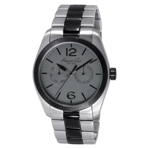 Kenneth Cole New York Classic Watch For Men with Silver Stainless Steel Strap