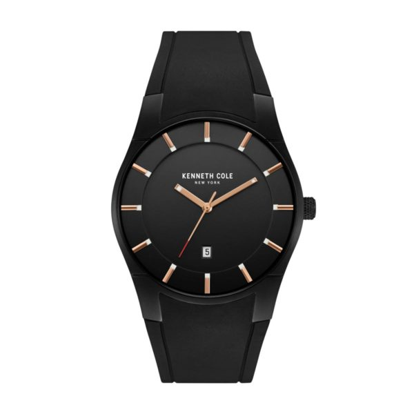 Kenneth Cole New York Watch For Men with Black Silicone Strap