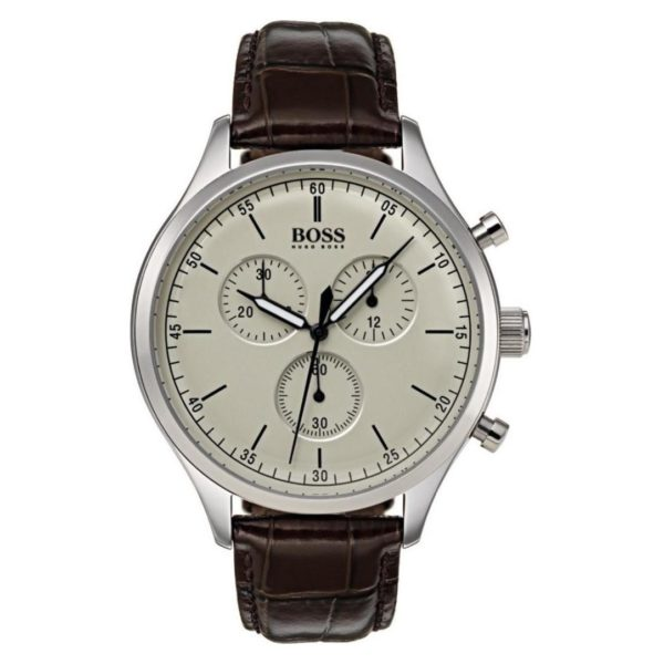 Hugo Boss Companion Watch For Men with Brown Leather Strap