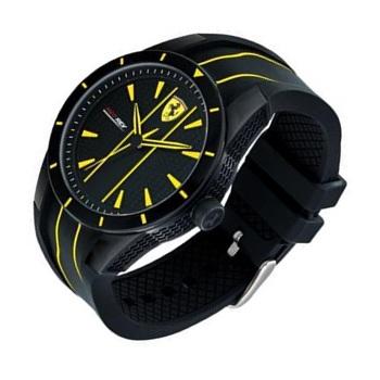 scuderia strap men black watch ferrari rev s yellow red