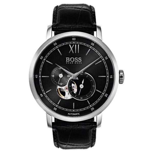 Hugo Boss Signature Collection Watch For Men with Black Leather Strap