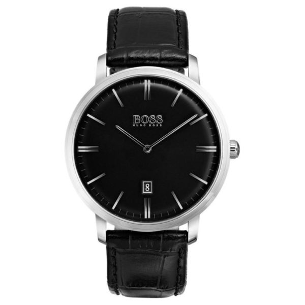 Hugo Boss Tradition Watch For Men with Black Leather Strap