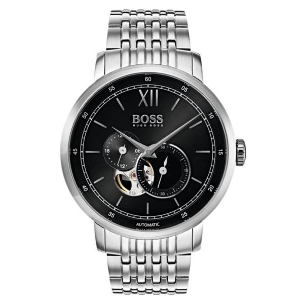 Hugo Boss Signature Collection Watch For Men with Silver Metal Bracelet