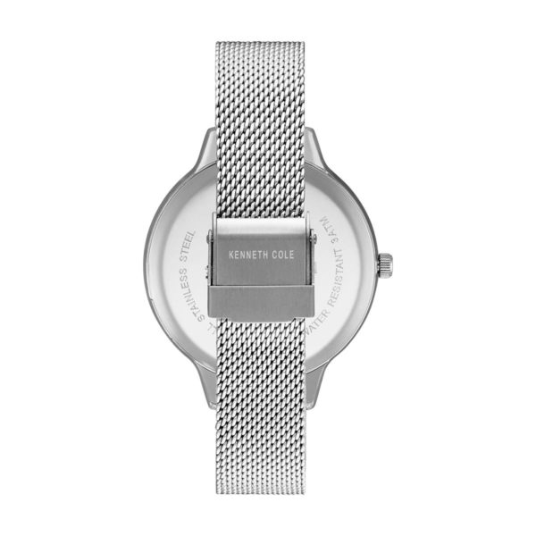 Kenneth Cole Classic Watch For Women with Silver Stainless Steel Bracelet