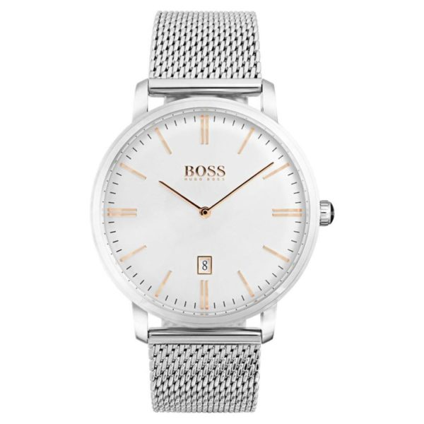 Hugo Boss Tradition Watch For Men with Silver Strap