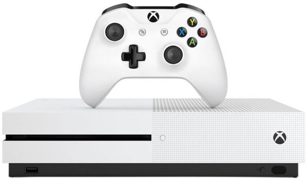 Microsoft Xbox One S 1TB Gaming Console White + Halo Wars 2 Game + 3 Months Live Gold Membership
