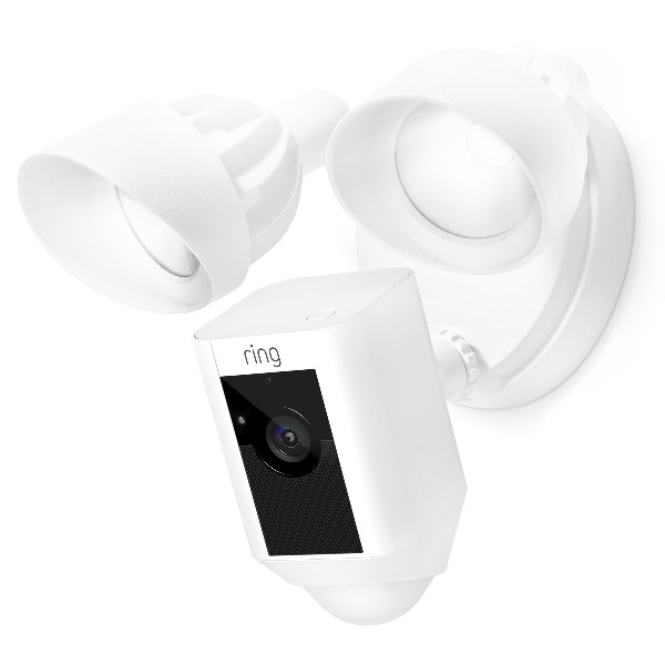 RING FLOODLIGHT CAM WHITE PRODUCT CLOSEUP