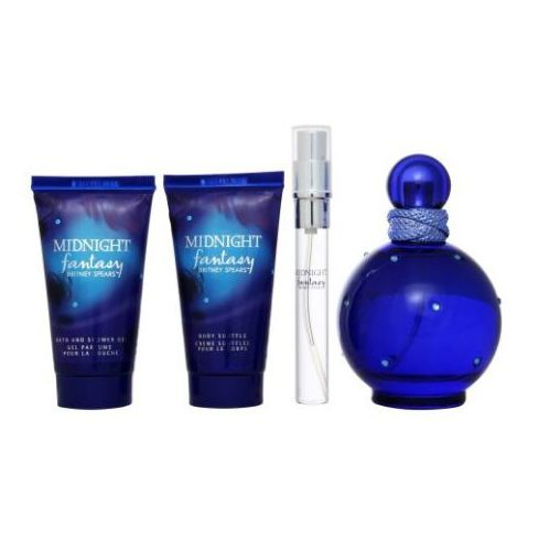 Britney Spears Midnight Fantasy Gift Set For Women (Britney Spears Midnight Fantasy 100ml EDP + Britney Spears Midnight Fantasy 10ml EDP + Body Souffle 50ml + Bath & Shower Gel 50ml)