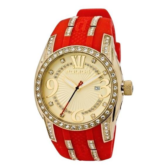 Police P 13196JSG-06A Glamour Topgear II Ladies Watch