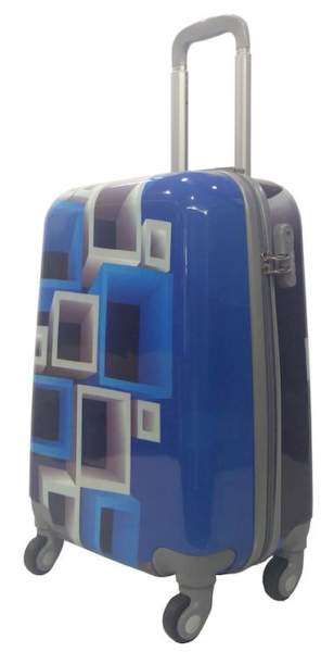 Senator 3 Pcs ABS And PC Spinner Luggage Trolley Case Blue