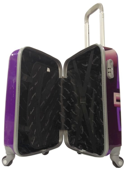 Senator 3 Pcs ABS And PC Spinner Luggage Trolley Case Black
