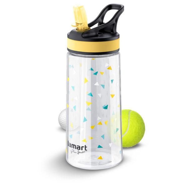 Lamart Straw Sport Bottle 0.5Ltrs Yellow LT4035