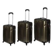 Highflyer Terminator Trolley Luggage Bag Grey 3pc Set TH1609PPC3PC