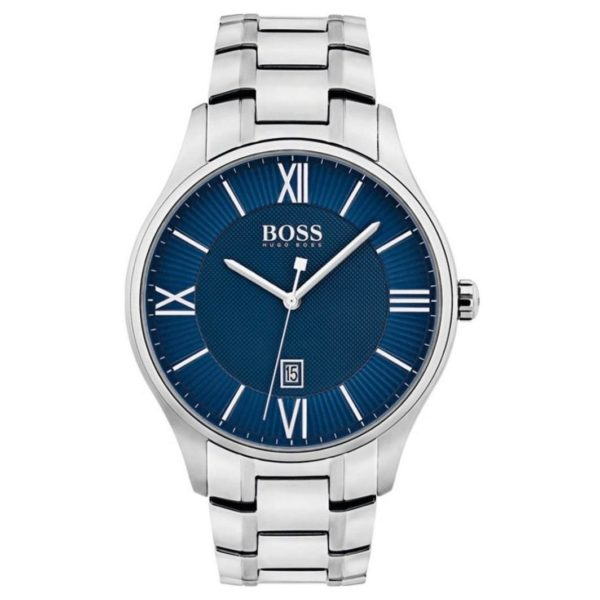 Hugo Boss Governor Watch For Men with Silver Metal Bracelet