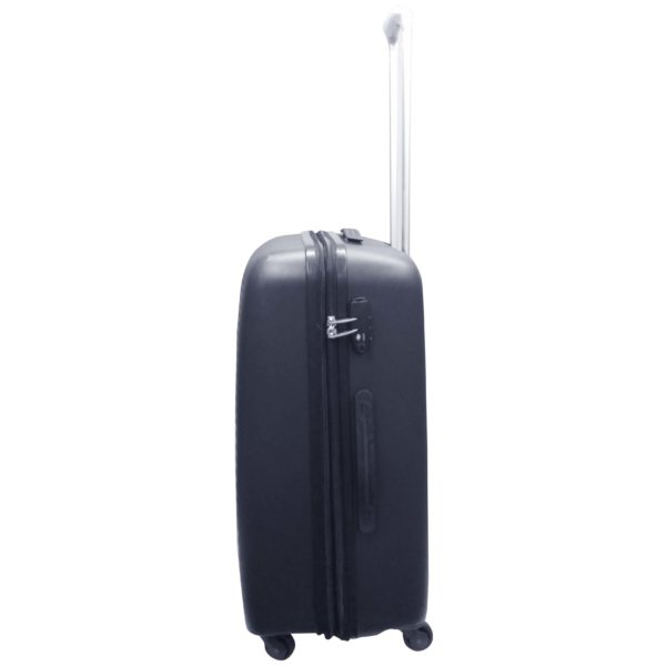 Highflyer WAVES Unbreakable Hard Trolley Luggage Bag 3pc Set TH-WAVES-3PC - Black