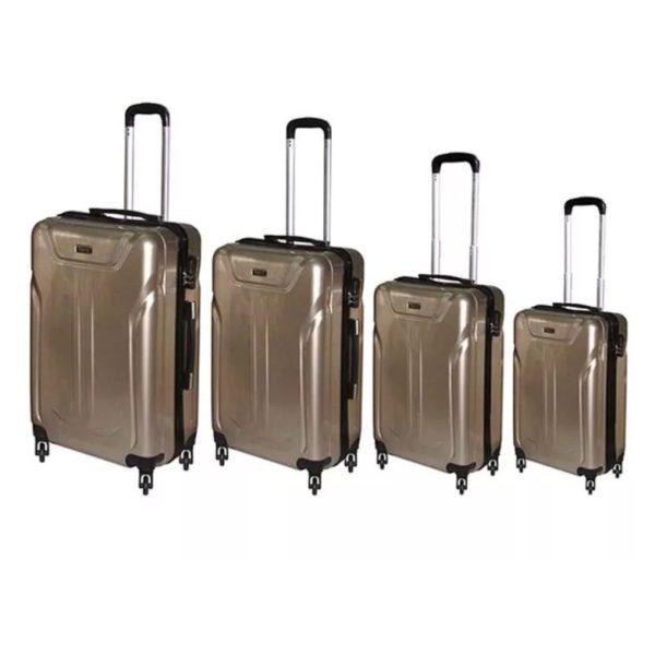 Highflyer Terminator Trolley Luggage Bag Gold 4pc Set TH1609PPC4PC