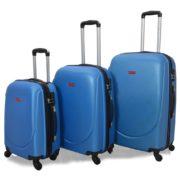 Highflyer Curve Series Trolley Luggage Bag Blue 3pc Set TH10103PC