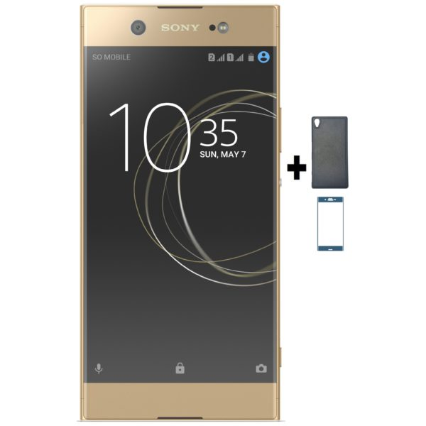 Sony Xperia XA1 Ultra G3212 4G Dual Sim Smartphone 32GB Gold + Case + Tempered Glass