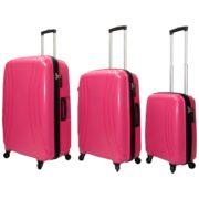 Highflyer THKELVIN3PC Kelvin Trolley Luggage Bag Pink/Black 3pc Set
