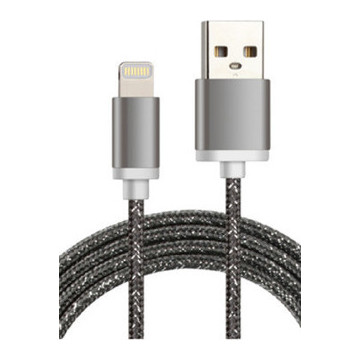 Nushh Lightning Cable 1M Dark Grey