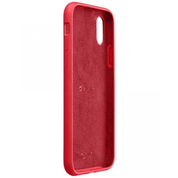 COVER IN SILICONE Soft Touch per iPhone X Cellularline SENSATION