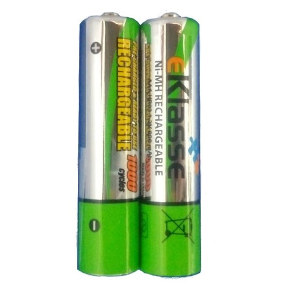 Eklasse EKRCAAA2P01 AAA/HR03 800mAh Rechargeable Battery 2PCS