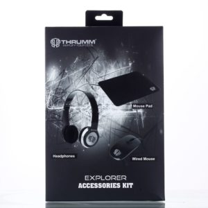 Free Thrumm Explorer Kit Mouse Pad + Wired Mouse + Wired Headphone Worth AED 599