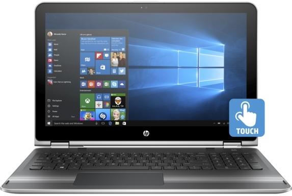 HP Pavilion x360 15-BK010NE Convertible Touch Laptop - Core i5 2.3GHz 8GB 1TB 2GB Win10 15.6inch FHD Silver