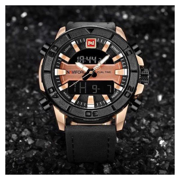 Naviforce Mens Watch Gold NF9114