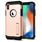 Spigen Tough Armor Case Brush Gold For Apple iPhone X - 057CS22162