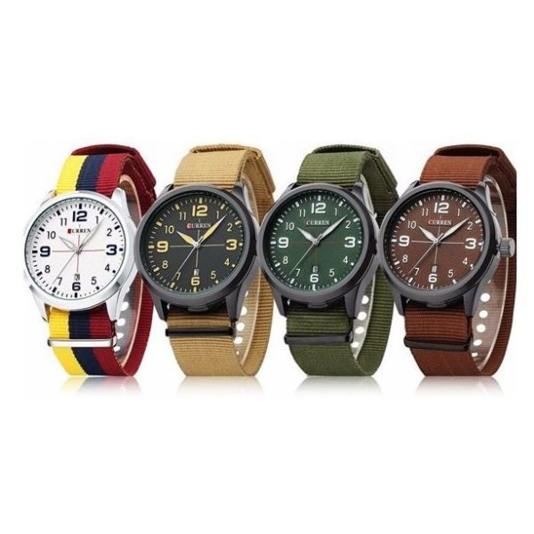 Curren 8195 Mens Watch ( 4 in 1 Bundle Gift pack )