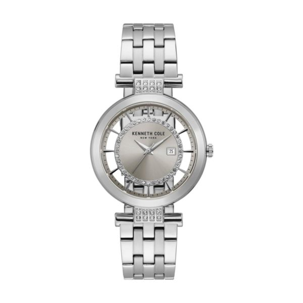 Kenneth Cole Transparency Watch For Women with Silver Stainless Steel Bracelet