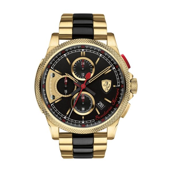 Scuderia Ferrari FORMULA Watch For Men with 2 Tone Stainless Steel Strap
