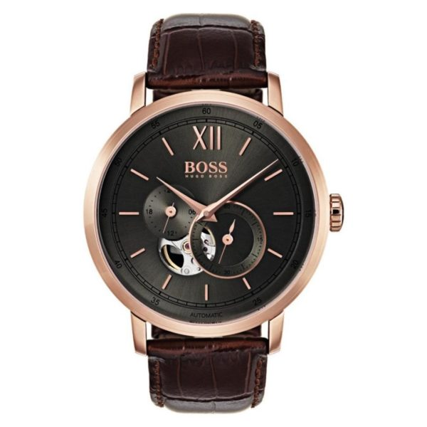 Hugo Boss Signature Collection Watch For Men with Brown Leather Strap