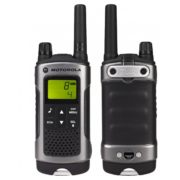 Motorola TLKRT80 P14MAB03A1AW Walkie Talkie Grey Twin Pack & Charger
