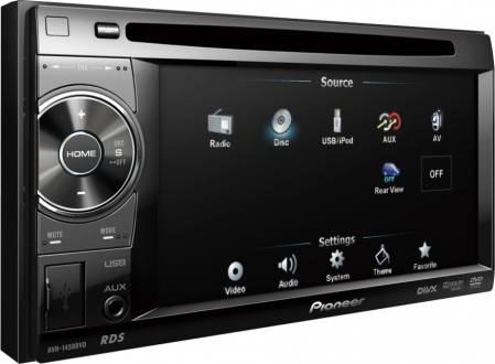 Pioneer AVH-1450DVD In Dash Car Video