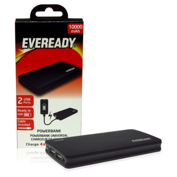 Eveready Power Bank 10000mAh PPA10000EBK4