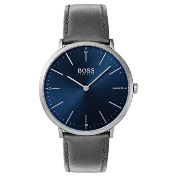 Hugo Boss Horizon Watch For Men with Grey Leather Strap