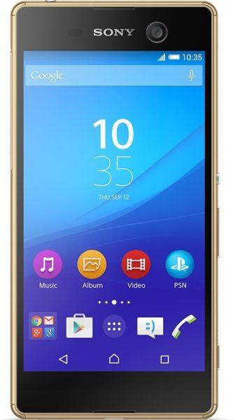Sony Xperia M5 4G Dual Sim Smartphone 16GB Gold