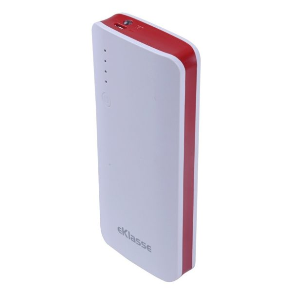 Eklasse EKPB0804BXM Power Bank 8000mAh Black/Red + EKPB0804BXM Power Bank 8000mAh White/Red