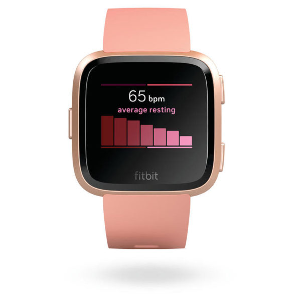 Fitbit Versa Fitness Watch Peach/Rose Gold Aluminum - FB505RGPKEU
