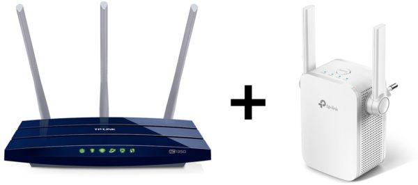 Tplink ARCHER C58 AC1350 Wireless Dual Band Router + RE305 AC1200 Wi-Fi  Range Extender