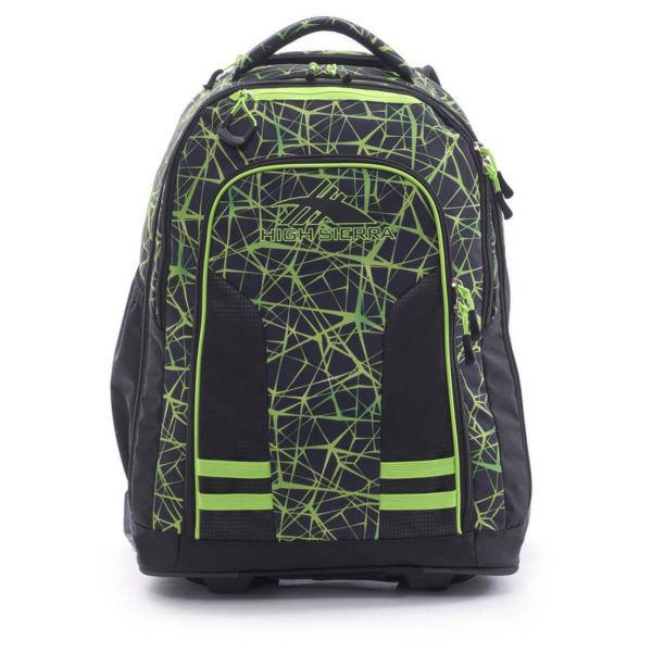 High Sierra 66IAW004 Blaise Trolley Backpack Digital Web/Black/Lime