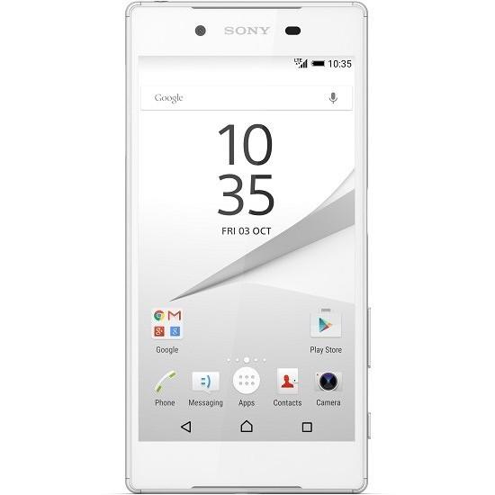 Sony Xperia Z5 4G Dual Sim Smartphone 32GB White + Phone Sling Grip