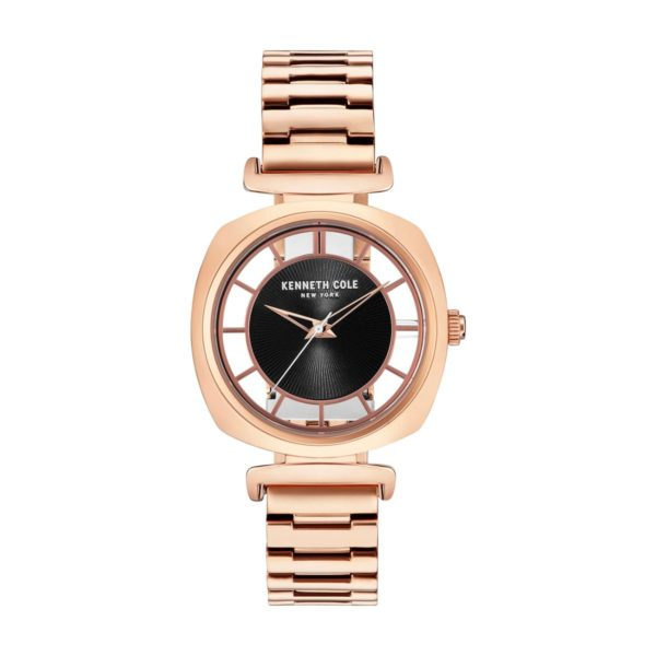 Kenneth Cole Transparency Watch For Women with Rose Gold Stainless Steel Bracelet