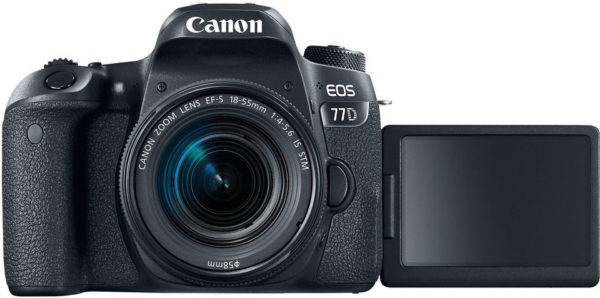 Canon EOS 77D DSLR Camera Black With EFS 18-55mm IS STM Lens