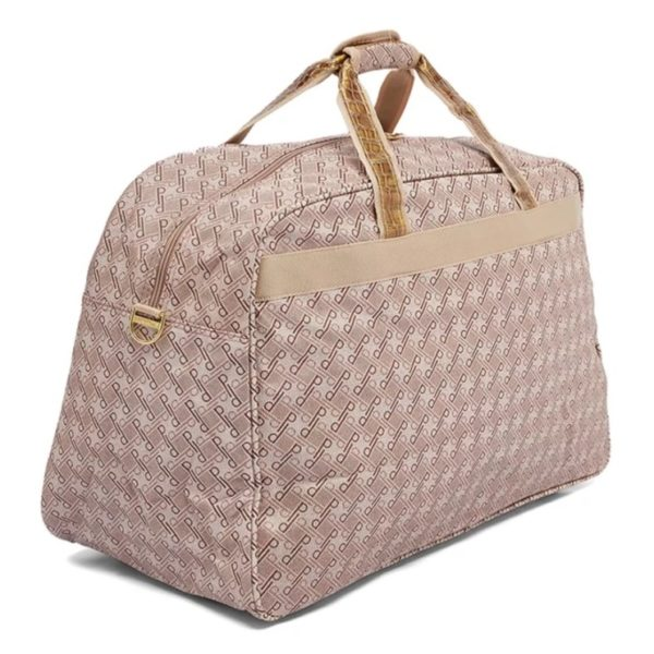 Summit Printed Polyester Duffel Bag Brown/Pink 22inch - 1255DA22PNK